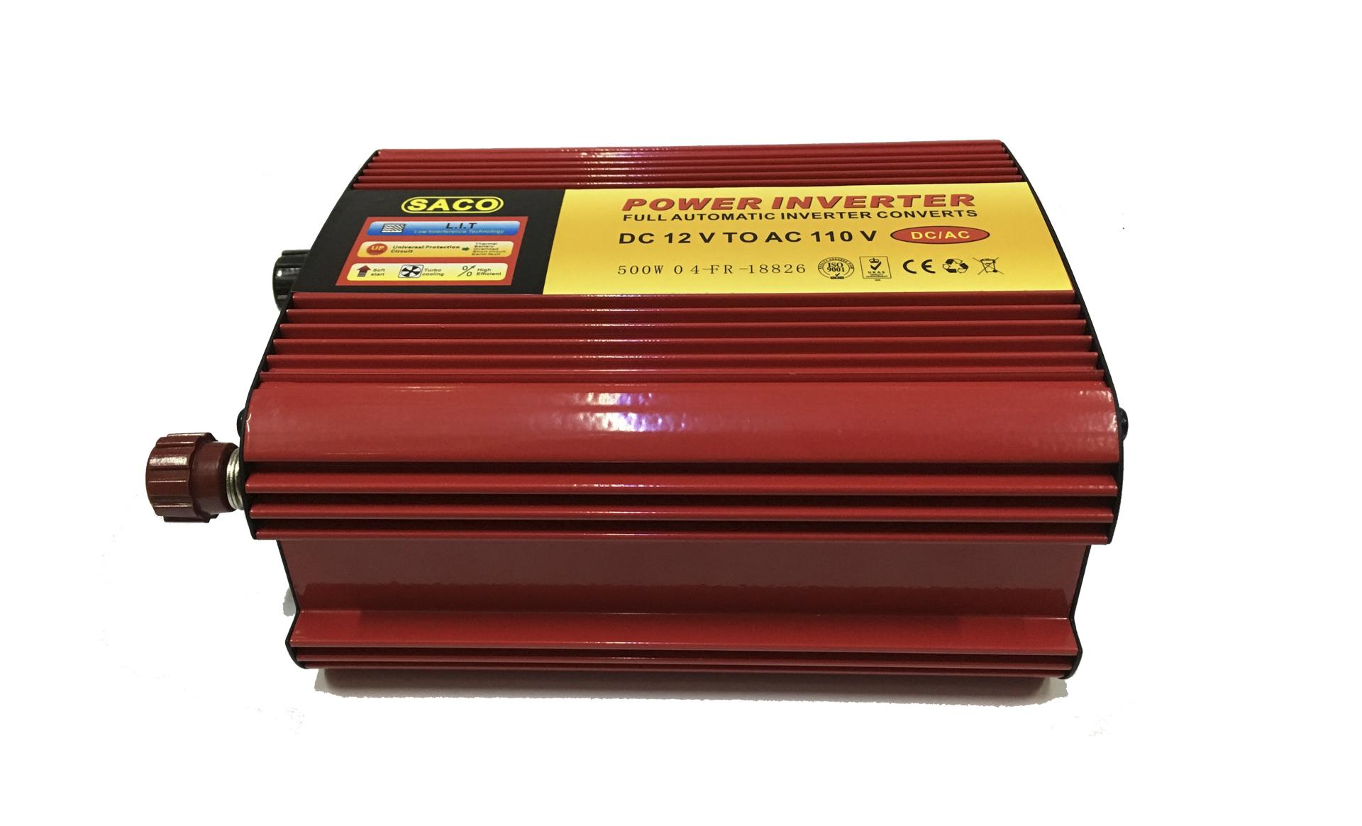 Inversor o convertidor de corriente 12v a 110v 500w minieasy - Inversor de corriente ...
